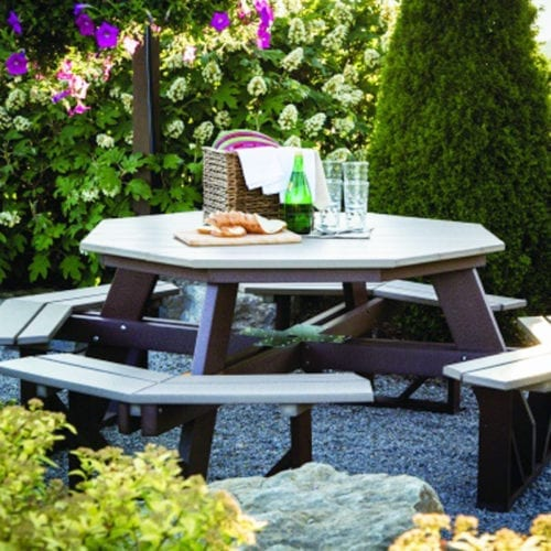 Octagon Picnic Table-lifestyle