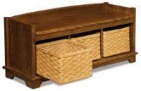 Lattice Weave entry bench Herron's Amish Furniture