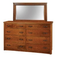 Meridian Tall Dresser with Mirror Bedroom Furniture