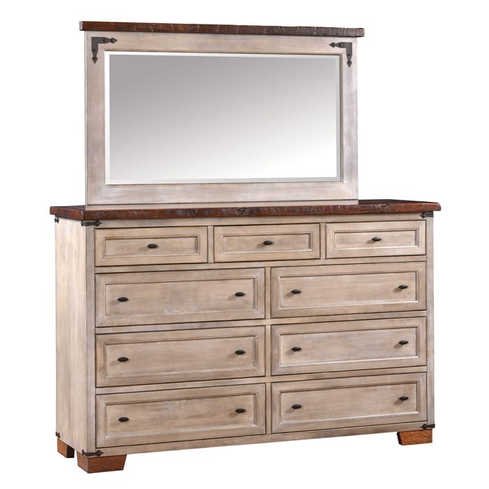 farmhouse heritage tall dresser and mirror Bedroom Furniture
