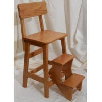Step Stool with Back - Kitchen Accessories