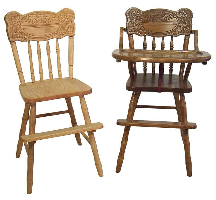 Children's Youth Chair & Highchair Herron's Amish Furniture