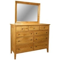 Dresser with mirror Herron's Amish Furniture