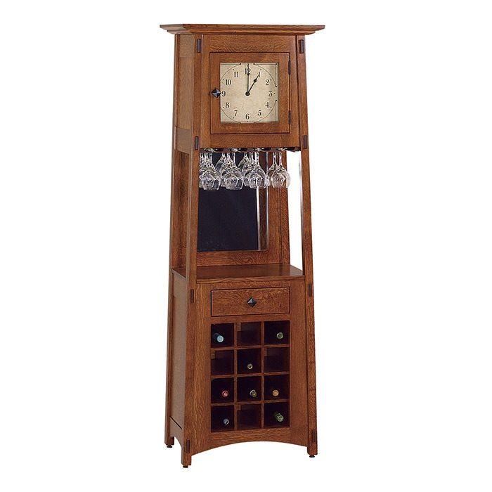 Clock Wine Rack Herron's Amish Furniture