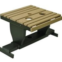 Outdoor Gliding settee table Herron's Amish Furniture