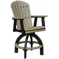 Outdoor swivel bar chair Herron's Amish Furniture