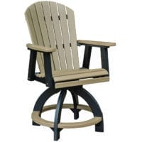 Outdoor swivel counter chair Herron's Amish Furniture
