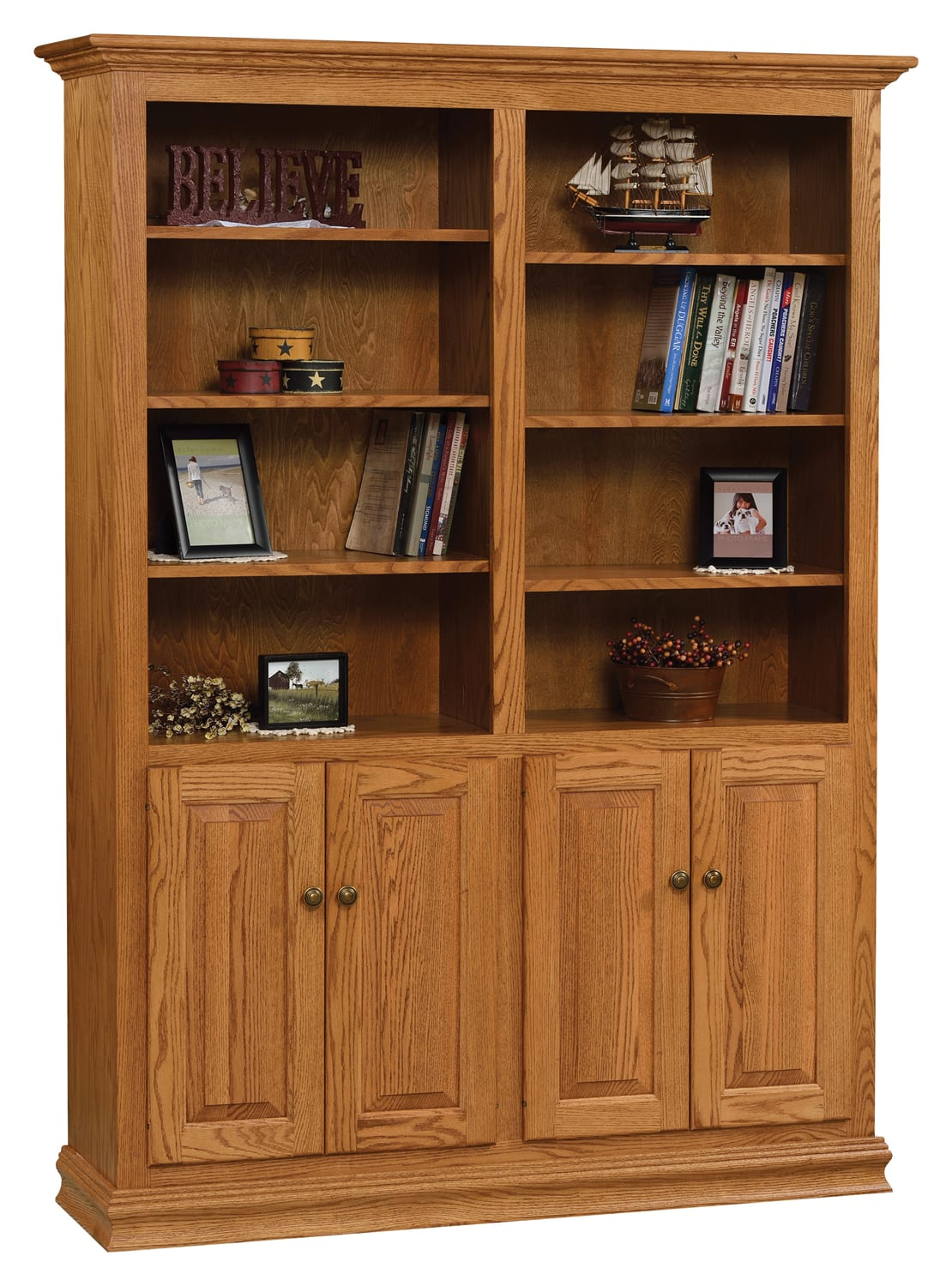 Traditional Double Bookcase Collection
