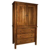 Lindholt Armoire with Dental Moulding Herron's Amish Furniture