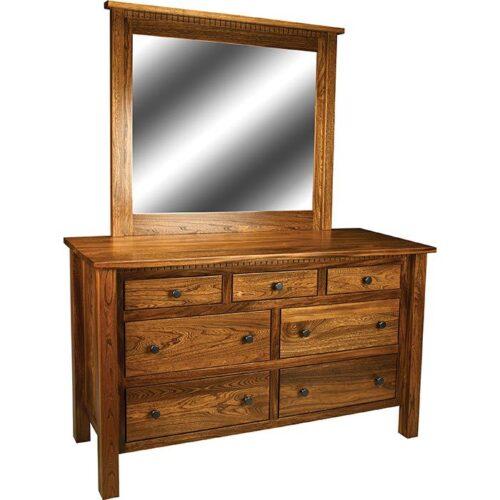 Linholt-Dresser-and-Mirror-with-Dental-Moulding