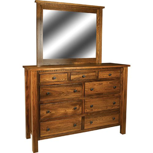 Linholt-Tall-Dresser-and-Mirror-with-Dental-Moulding