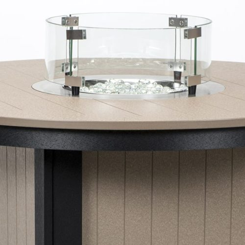 Fire Table Glass Wind Guard