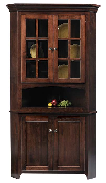 Lexington Shaker Hutch-Corner Hutch