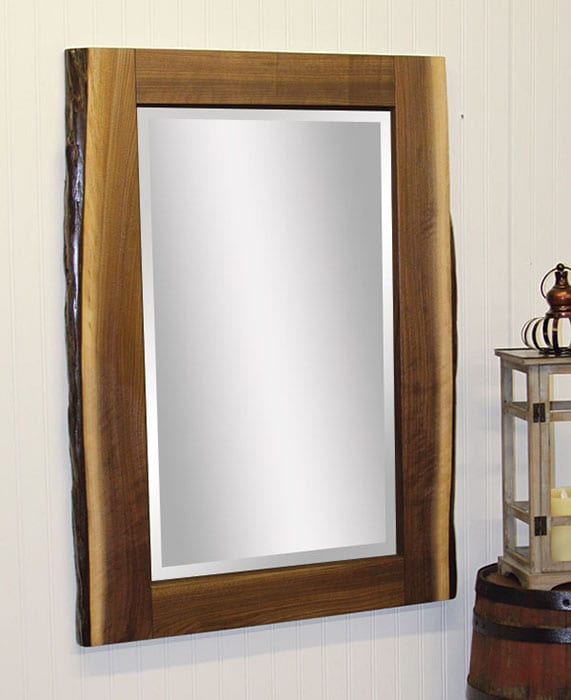 Live Edge Wall Mirror Walnut