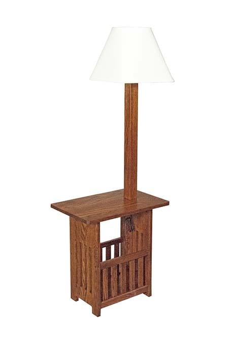 Magazine End Table with Lamp Herron's Amish Furniture