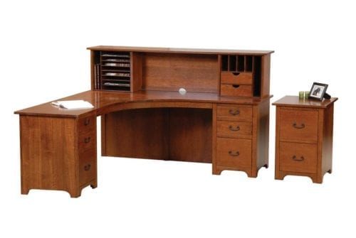 LCDOH02LR-14800-D05 liberty desk with open hutch option