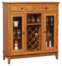 Wine Cabinet Herron's Amish Furniture
