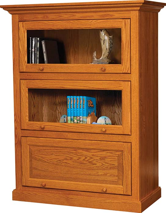 TBB05MLW-14915-BC17 Barrister Bookcase 3 door