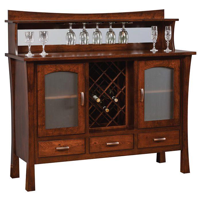 Wine Rack Buffet Herron's Amish Furniture