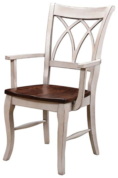 new-13100-DC01 Double X Back Arm Chair