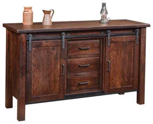 new-14915-DB08 Farmhouse Buffet with Drawers