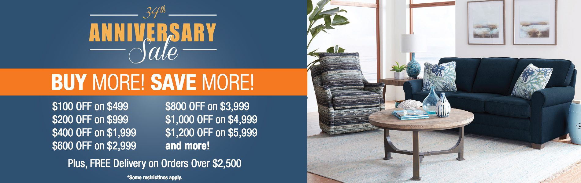 Living Room Anniversary Sale